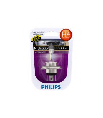 Лампа галогеновая Philips NightGuide DoubleLife H4 12 В 55 Вт